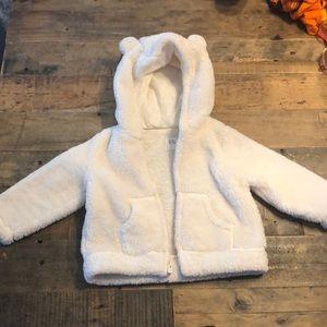Baby Gap Sherpa hoody in ivory frost